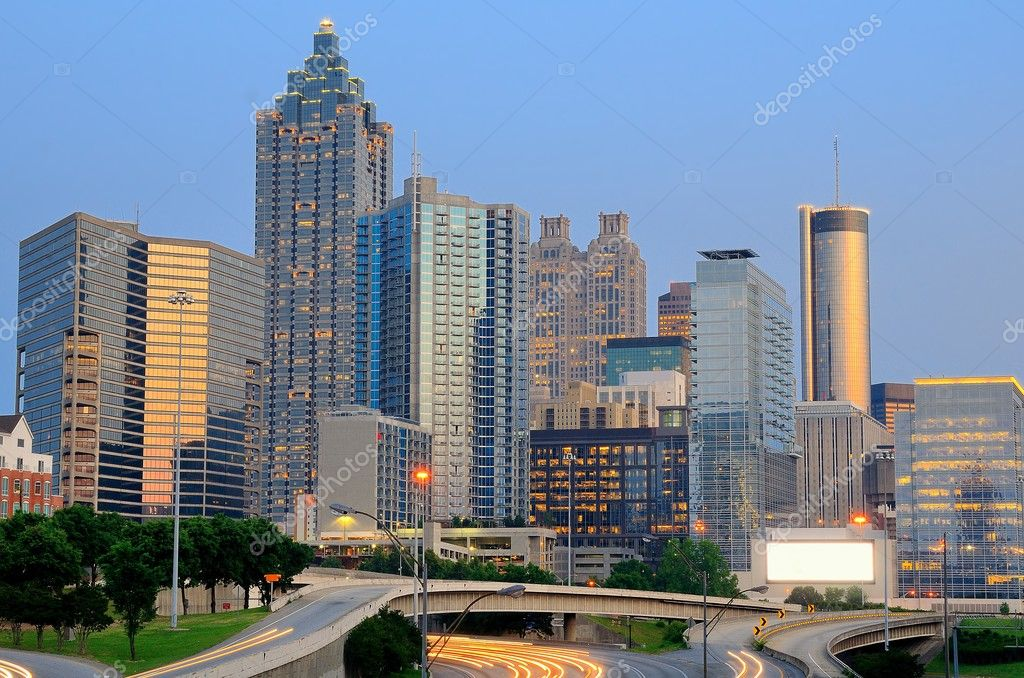 The skyline of downtown Atlanta, Georgia. — Stock Photo #5764890