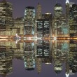 Lower Manhattan at Night — Stock Photo