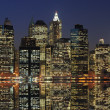 Lower Manhattan at Night — Stock Photo #5899160