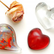 Glass Hearts — Stock Photo
