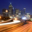 downtown atlanta skyline — Stock Photo
