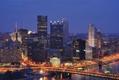 PIttsburgh, Pennsylvania Downtown Skyline — Stok fotoğraf