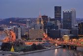 PIttsburgh, Pennsylvania Downtown Skyline — Stock Photo