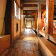 Stock Photo: Japanese Castle Hallway