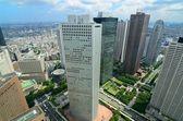 Shinjuku içinde ofis binaları — Stok fotoğraf