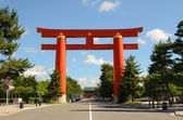 Heian Shrine Tori Gate — Stock Photo