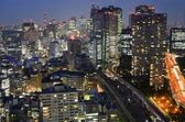 Buildings and Highways in Tokyo — Stock Photo