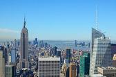 Aerial view of Manhattan — Stock Photo