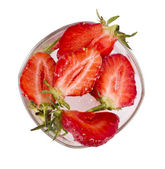 Strawberry is in glass — Stock Photo
