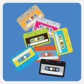 Casetes de audio — Vector de stock