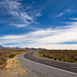 Stock Photo: Highway road around Mt Ngauruhoe