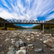 Long alpine bridge — Stock Photo