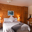 Stock Photo: Fox Glacier Lodge Bedroom Interior