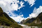 Cloudscape e glaciar fox — Foto Stock