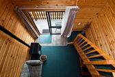 Fox Glacier Lodge apartment wooden interior — Stock Photo