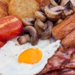 Stock Photo: Detail of English Breakfast