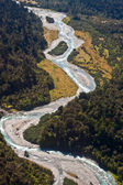 Cook River aerial - New Zealand — Stock Photo