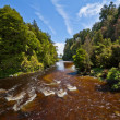 Beautiful brown volcanic river — Stock Photo
