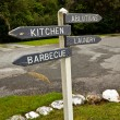 Stock Photo: Campervan site sign post