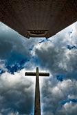 Drewniany krzyż — Zdjęcie stockowe