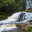 Stock Photo: Purakaunui Waterfall in New Zealand