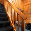 Wooden interior and stairway — Stock Photo