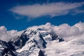 Jižní Alpy a mraky na Novém Zélandu — Stock fotografie