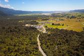 Aerial photo Fox Glacier Township — Stock Photo