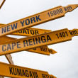 Signpost at Stirling Point, Bluff - New Zealand. — Stock Photo