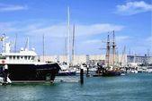 Boats on port — Stock Photo