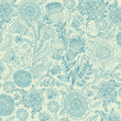 Classical wall-paper with a flower pattern. - 
