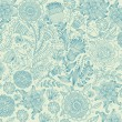 图库矢量图片: Classical wall-paper with flower pattern.