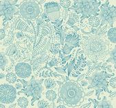 花のパターンを持つ古典的な壁ペーパー. — ストックベクタ