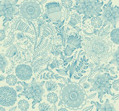 Classical wall-paper with a flower pattern. — Vettoriale Stock