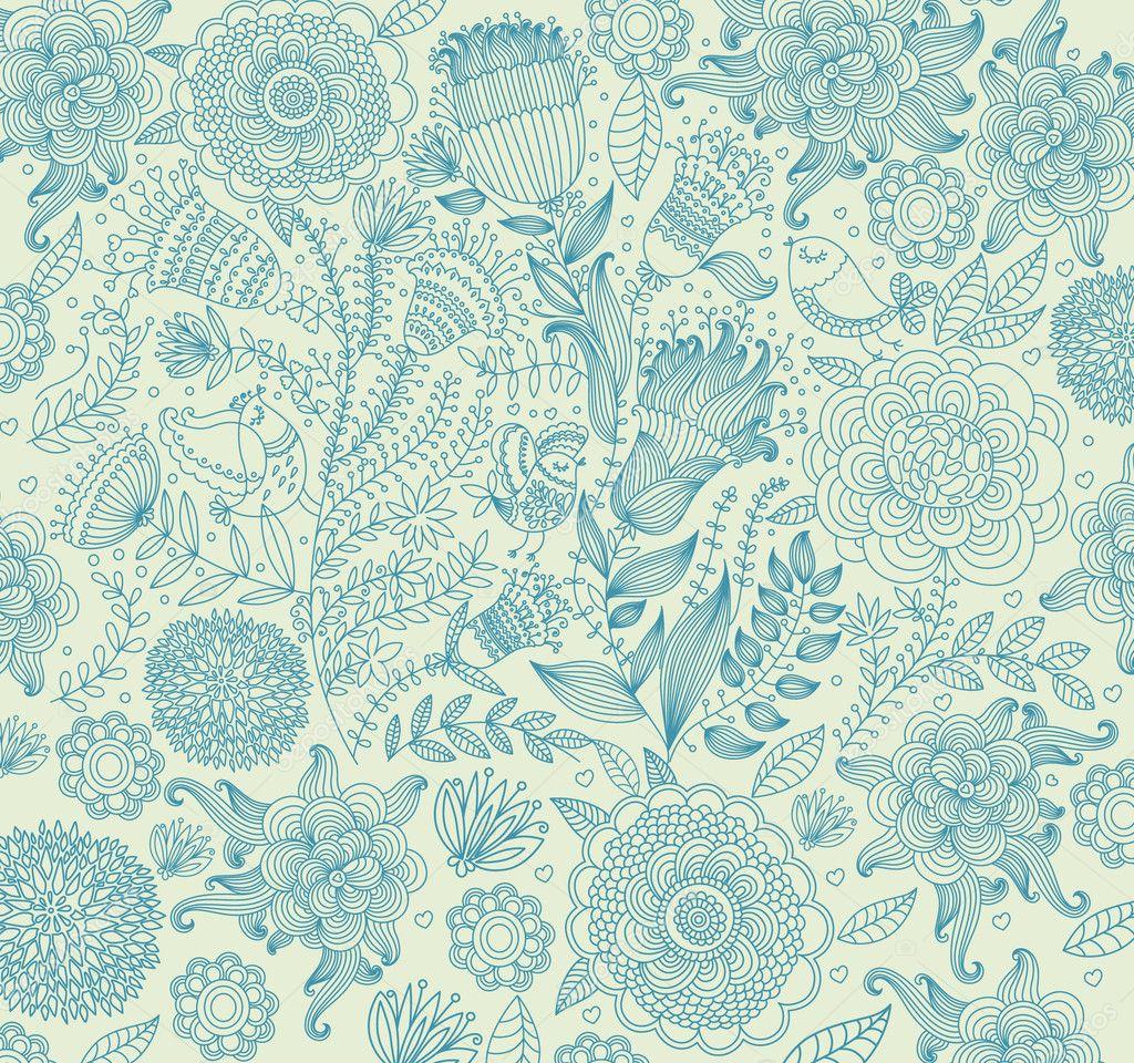 Papier peint classique avec un motif de fleur image vectorielle 5614846 - Papier peint avec motif ...