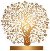 Vector gold tree — Stock Vector
