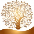 Vector gold tree — Stock Vector #5756977