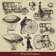 Vector set of old transport - 