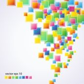 прозрачные цветные квадраты — Cтоковый вектор
