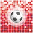 Stock Vector: Soccer ball on a red background
