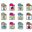 Royalty-Free Stock Vector Image: Painted colorful icons