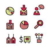 Malované ikony — Stock vektor