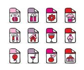 Painted festive square icons — Stock Vector