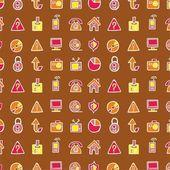 Tekstury z ikon biurowych — Wektor stockowy