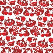 Red vector Children texture — Stock Vector