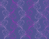 Vector purple seamless floral pattern — Stock vektor