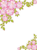 Vector frame with floral pattern — Stock Vector