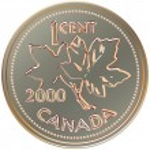 Vector Money cent canada — Stock Vector