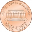 Vector American coin one cent, penny - Stock Vector