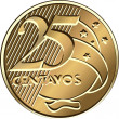 Stock Vector: Vector Brazilicentavo coin twenty-five